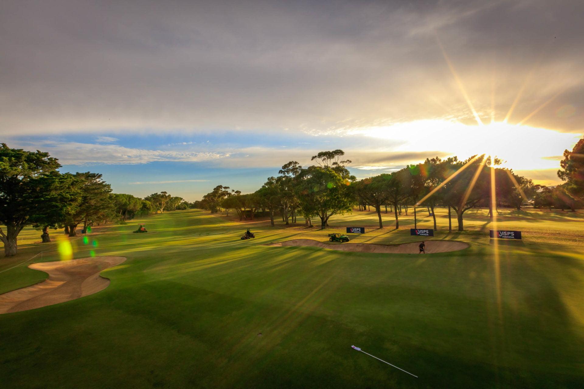 2019 Women's Australian Open - early morning image of golf course