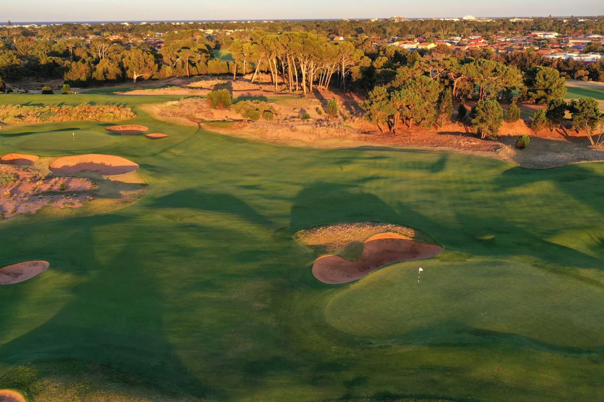 Royal Adelaide Golf Club - Par 4, 4th Green & Par 4, 6th Green / Photo: Gary Lisbon Golf Photography