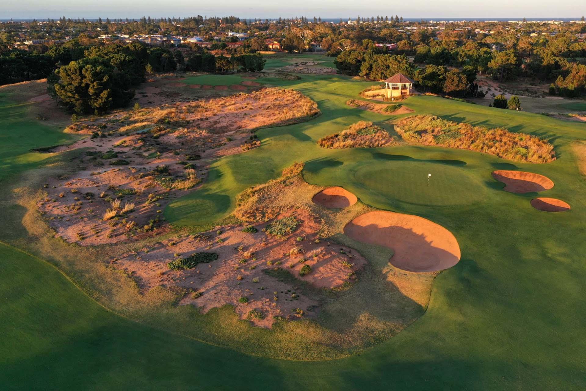 Royal Adelaide Golf Club - Par 4, 6th Green & Par 3, 7th Hole / Photo: Gary Lisbon Golf Photography